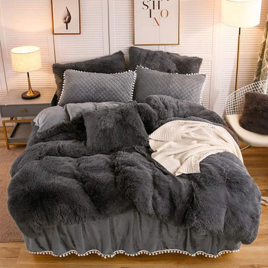 Softy Dark Gray Bed Set - Tapestry Girls