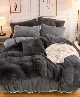 The Softy Dark Gray Bed Set
