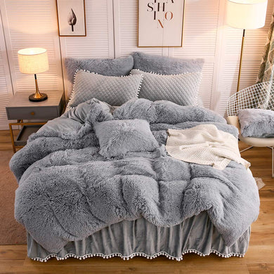 Softy Light Gray Bed Set - Tapestry Girls