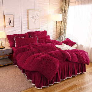 Softy Red Bed Set - Tapestry Girls