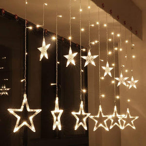 Star Curtain Warm White Lights - Tapestry Girls