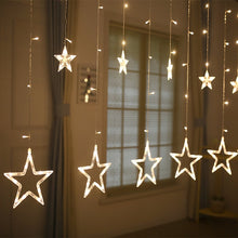 Load image into Gallery viewer, Star Curtain Warm White Lights - Tapestry Girls
