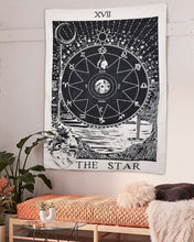 Load image into Gallery viewer, Tarot Star Tapestry - Tapestry Girls