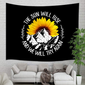 Sun Will Rise Sunflower Tapestry - Tapestry Girls