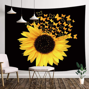 Sunflower Butterfly Tapestry - Tapestry Girls
