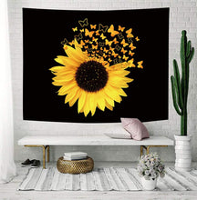 Load image into Gallery viewer, Sunflower Butterfly Tapestry - Tapestry Girls