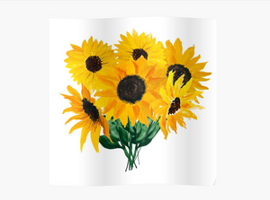Sunflower Bouquet Poster - Tapestry Girls