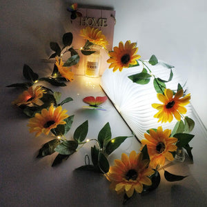 Sunflower LED String Lights - Tapestry Girls