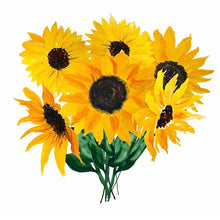 Load image into Gallery viewer, Sunflower Bouquet Poster - Tapestry Girls