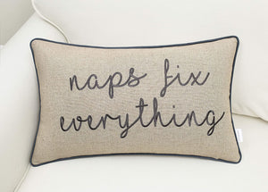 Tan Naps Fix Everything Pillow - Tapestry Girls