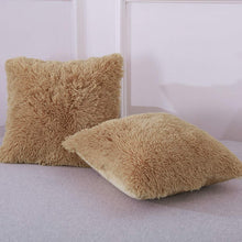 Load image into Gallery viewer, Velvet Plush Tan Pillows - Tapestry Girls
