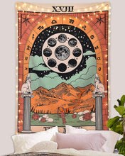 Load image into Gallery viewer, Tarot Moon Medieval Tapestry - Tapestry Girls