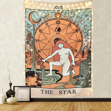 Load image into Gallery viewer, Tarot Star Medieval Tapestry - Tapestry Girls