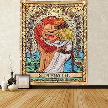 Load image into Gallery viewer, Tarot Strength Tapestry - Tapestry Girls