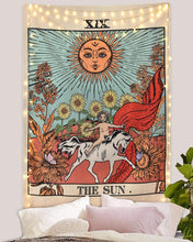 Load image into Gallery viewer, Tarot Sun Medieval Tapestry - Tapestry Girls