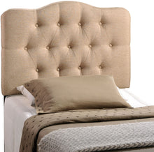 Load image into Gallery viewer, Eliza Taupe Tufted Headboard - Tapestry Girls