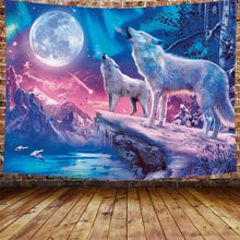 Load image into Gallery viewer, The Blue Wolf Tapestry - Tapestry Girls
