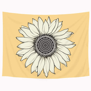 The Yellow Sunflower Tapestry - Tapestry Girls