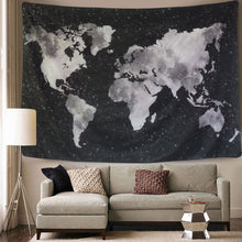 Load image into Gallery viewer, The Black Map Tapestry - Tapestry Girls