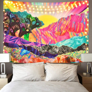 Trippy Landscape Tapestry - Tapestry Girls