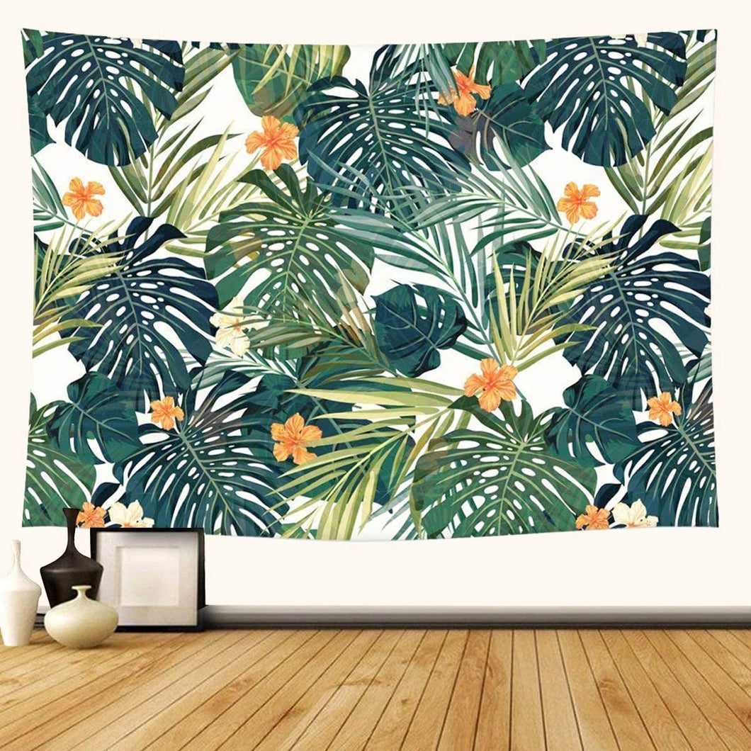 Tropical Leaves Tapestry