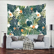 Load image into Gallery viewer, Tropical Leaves Tapestry