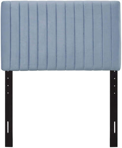 Velvet Light Blue Headboard - Tapestry Girls