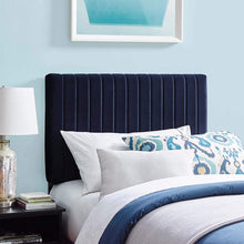 Load image into Gallery viewer, Velvet Navy Headboard - Tapestry Girls
