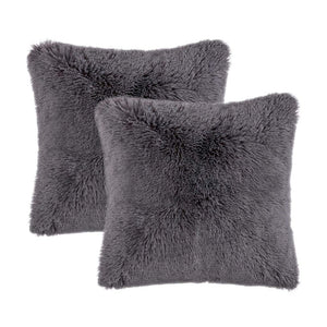 Velvet Plush Dark Grey Pillows - Tapestry Girls