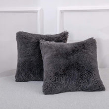 Load image into Gallery viewer, Velvet Plush Dark Grey Pillows - Tapestry Girls