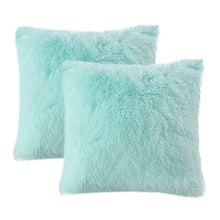 Load image into Gallery viewer, Velvet Plush Aqua Pillows - Tapestry Girls