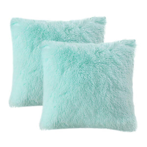 Velvet Plush Aqua Pillows - Tapestry Girls