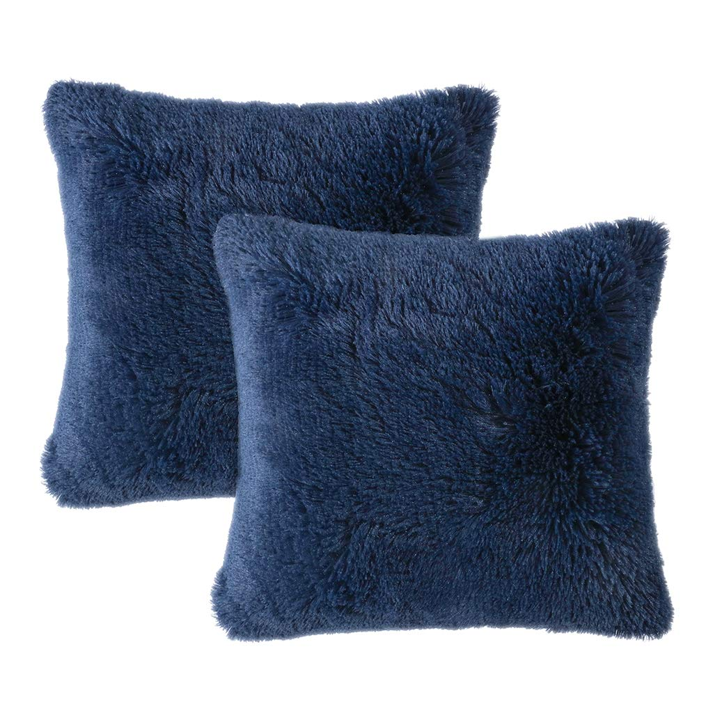 Velvet Plush Blue Pillows - Tapestry Girls