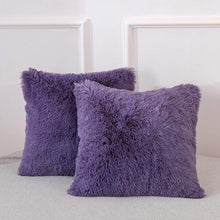 Load image into Gallery viewer, Velvet Plush Purple Pillows - Tapestry Girls