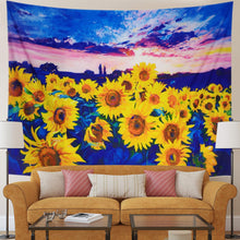 Load image into Gallery viewer, Watercolor Sunflower Tapestry - Tapestry Girls