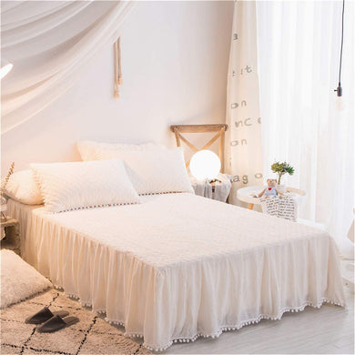 Softy White Bed Skirt - Tapestry Girls