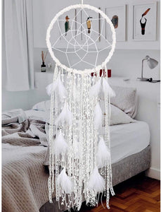 White Feathered Dreamcatcher - Tapestry Girls