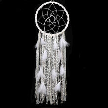 Load image into Gallery viewer, White Feathered Dreamcatcher - Tapestry Girls