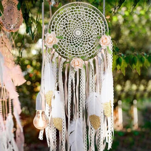 White Floral Dreamcatcher - Tapestry Girls