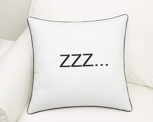 White ZZZ Pillow - Tapestry Girls