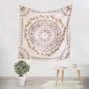 White Floral Tapestry - Tapestry Girls