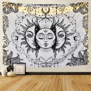 White Moon Tapestry - Tapestry Girls