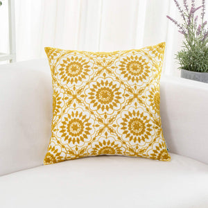 Yellow Floral Pillow - Tapestry Girls
