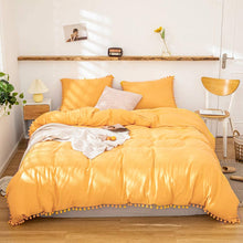 Load image into Gallery viewer, The Softy Pom Pom Yellow Bed Set