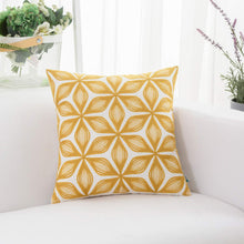 Load image into Gallery viewer, Yellow Rhombus Pillow - Tapestry Girls
