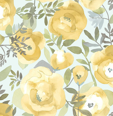 Peachy Keen Yellow Removable Wallpaper - Tapestry Girls