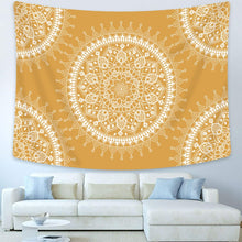 Load image into Gallery viewer, Yellow Mandala Tapestry - Tapestry Girls