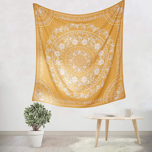 Yellow Floral Tapestry - Tapestry Girls