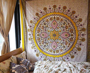 Yellow Medallion Tapestry - Tapestry Girls