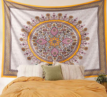 Load image into Gallery viewer, Yellow Medallion Tapestry - Tapestry Girls